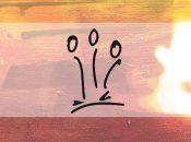 Logo de l'association algérienne ACDC sur fond couleur