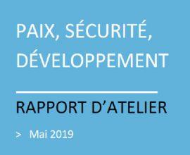 Page de garde document paix sécurite développement